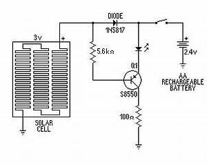 capacitor with indicator led charged by pnp 2n3906 transistor With with solar panel schematic diagram also npn and pnp transistor diagram