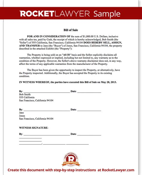 Mass Boat Registration Bill Of Sale by Bill Of Sale Form Printable Car Vehicle Bill Of Sale