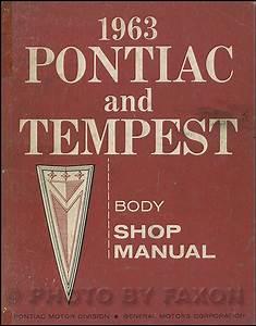 1963 Pontiac Air Conditioning Repair Shop Manual Original