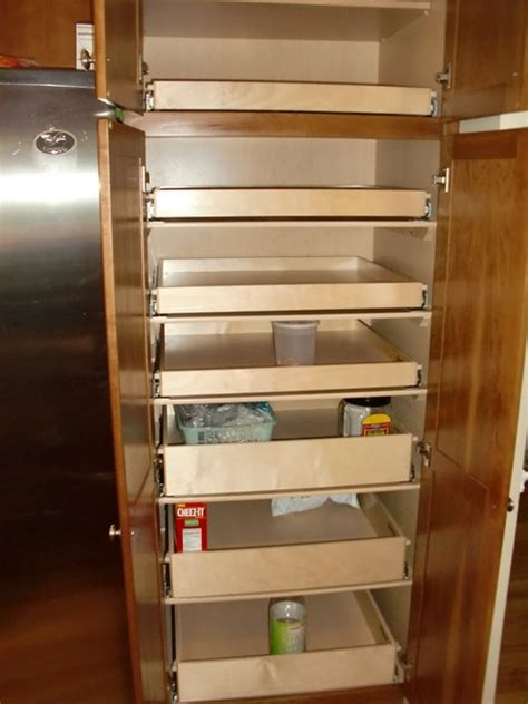 how to make kitchen cabinet pull out shelves cabinet pantry pull out shelves boston by shelfgenie