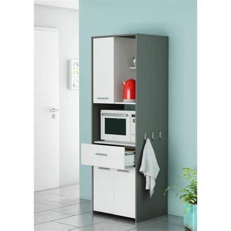 cdiscount meubles de cuisine almond meuble micro onde 60 cm blanc et gris graphite