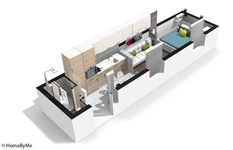 plan cuisine en longueur amnagement cuisine en longueur ide de decoration cuisine