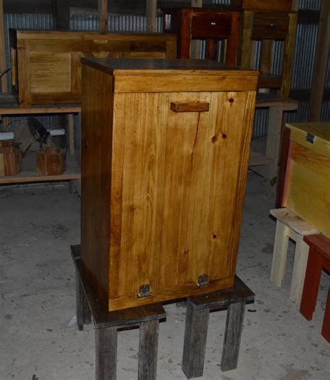Wood Trash Cabinet by Wood Trash Bin Cabinet Tilt Out Trash Bin