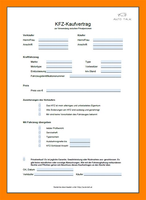 kfz kaufvertrag zum ausdrucken kostenlos virtual nostrum