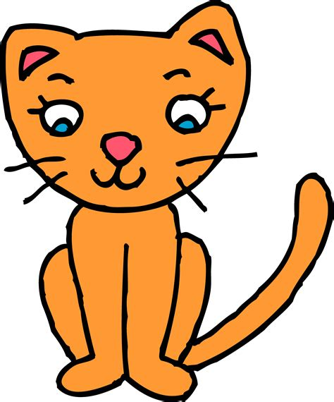 cute orange kitty cat clipart  clip art