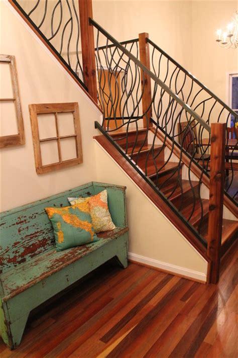 wrought iron railing artisan bent design eclectic