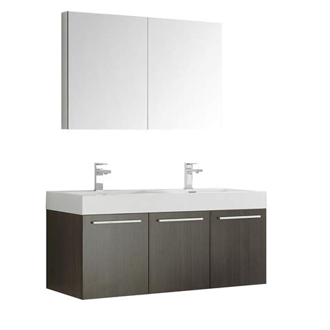 48 oak medicine cabinet fresca vista 48 in vanity in gray oak with acrylic vanity
