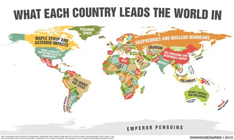 map    single country leads  world