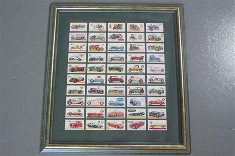 sold framed motoring cigarette card collection