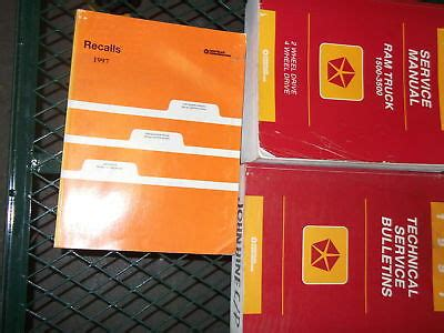 car maintenance manuals 1997 dodge ram 3500 transmission control 1997 dodge ram truck 1500 2500 3500 service shop repair manual set factory 97 ebay