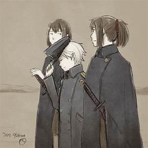 Admiral, Hyuuga, And, Ise, Kantai, Collection, Drawn, By, Bonjin