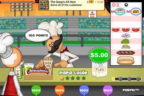 jeux de cuisine papa louie pancakeria papa s doggeria papa louie 3