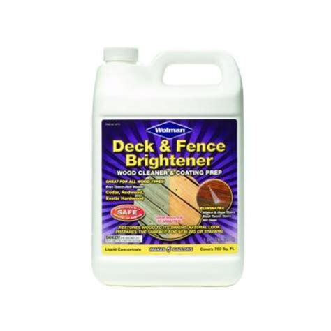 Deck Brightener Home Depot by Wolman 1 Gal Deck And Fence Brightener Discontinued