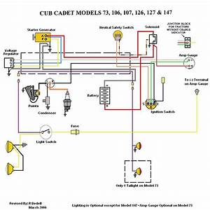 Cub Cadet 107 Wiring Diagram - Mytractorforum Com