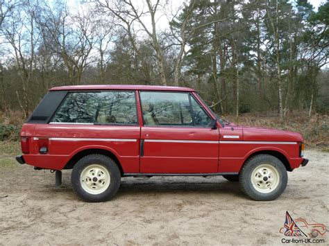 red land rover old 1979 rover range rover masai red 64 000 miles never welded
