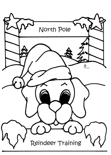 cute animal christmas coloring pages   print