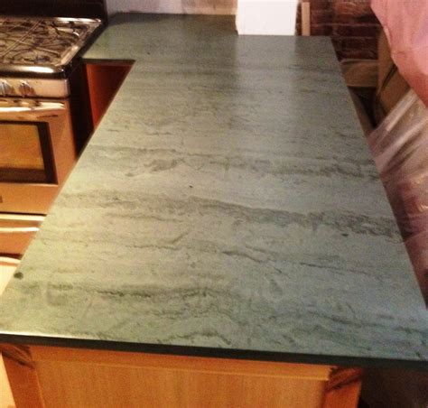 White Cabinets Dark Grey Countertops by Dark Green Slate Countertop For The Home Pinterest
