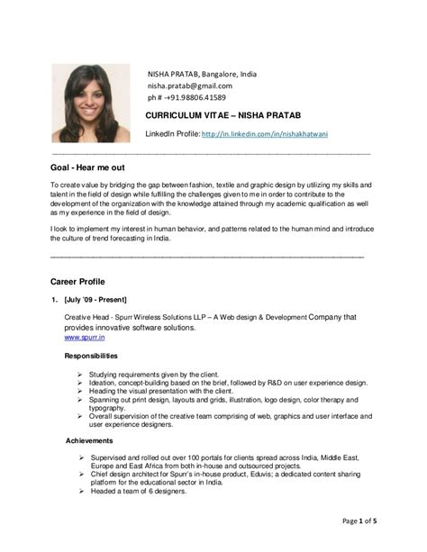 Resume For Cabin Crew by Nisha Pratab Resume