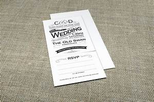 0007p vintage black and white typography wedding With wedding invitations tear and send