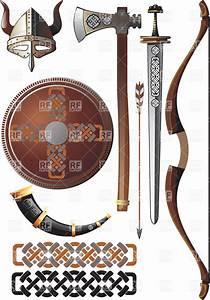 Viking weapon set Royalty Free Vector Clip Art Image ...