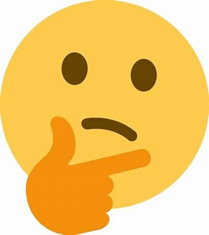 Transparent Emoji Thinking Background Clipart Pinclipart