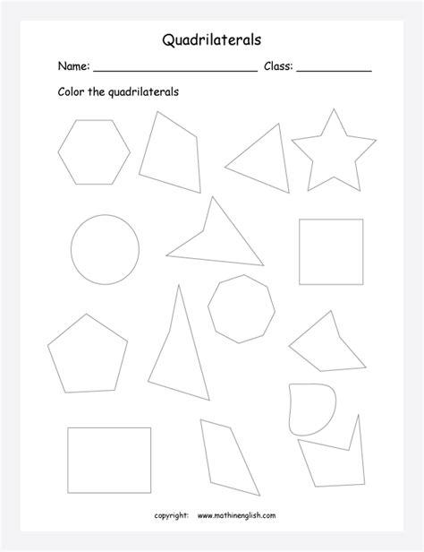 count sides  color  shapes   quadrilaterals