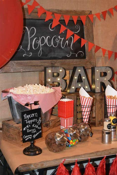 vintage popcorn birthday party ideas photo