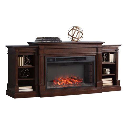 bowery hill electric fireplace tv stand  espresso