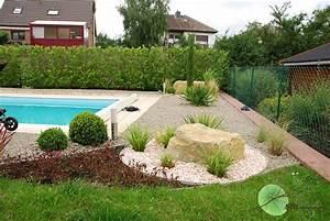 Massif Autour Piscine : am nagement des alentours de la maison avec mise en valeur de la piscine sm concept paysage ~ Farleysfitness.com Idées de Décoration