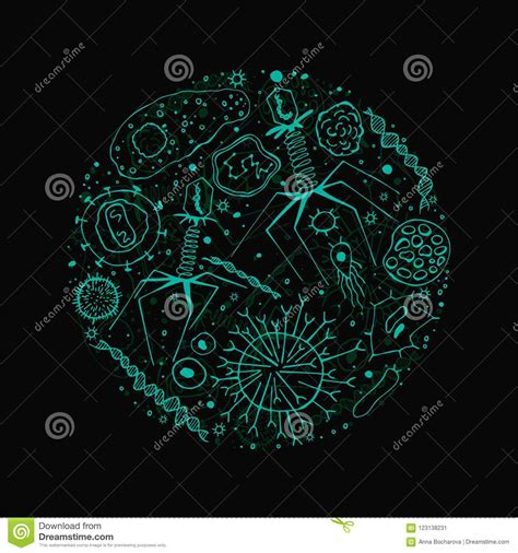 virus background image stock vector illustration