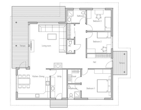 3 bedroom contemporary house plans affordable home plans affordable home plan ch121 17980