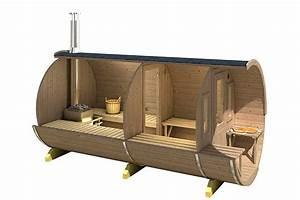 Fass Als Gartenhaus : einen fass sauna aus thermoholz kologisch und langlebig ~ Markanthonyermac.com Haus und Dekorationen