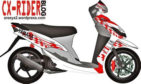 Modif Motor Mio Lama Merah by Koleksi Modifikasi Motor Mio Cutting Stiker Terbaru