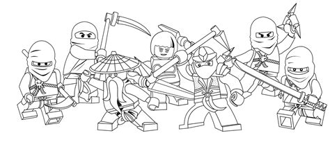 Free Coloring Pages Of Lego Ninjago Ausmalen 8495