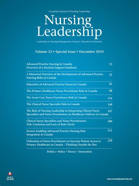 nursing leadership vol  special issue december
