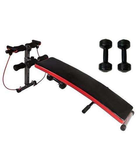 Buy Sit Up Bench by Kobo Combo Of Sit Up Bench And Dumbbells And Resistance