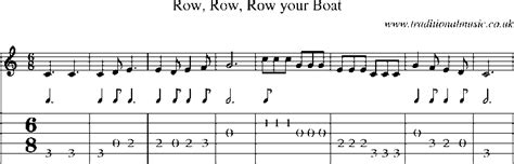 Row Row Your Boat Guitar by Guitar Tab And Sheet For Row Row Row Your Boat