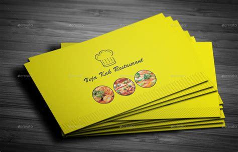 restaurant business card  vejakakstudio graphicriver