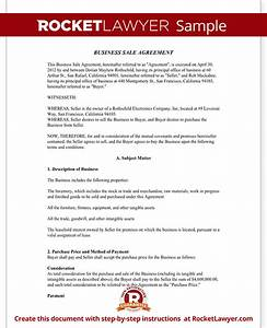 business sale agreement contract form with template sample With selling a business contract template free