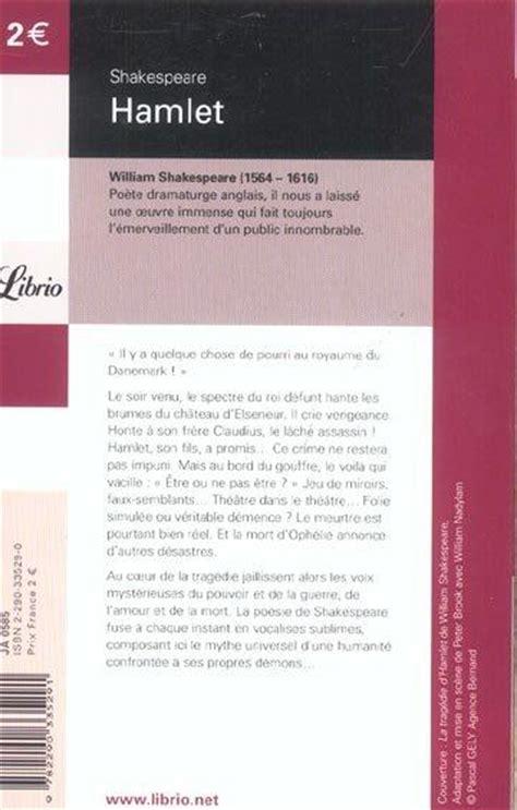Hamlet Resume En Francais by Livre Hamlet William Shakespeare