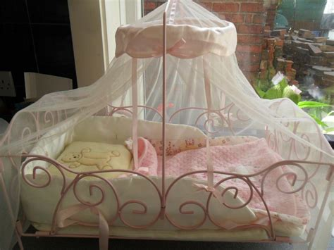 baby cot drapes baby annabell doll metal frame cot crib with drapes