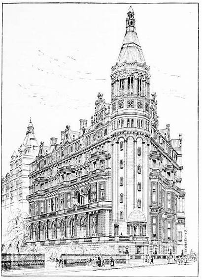 Liberal Club National Architecture Victorian London Drawing
