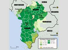 Map of ethnic Albanian population within the proposed