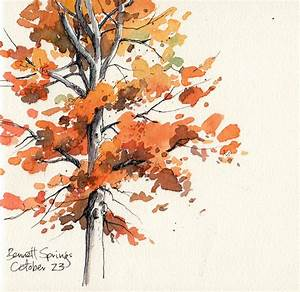 Beautiful fall tree Artists' Journal Workshop | Stuff to ...