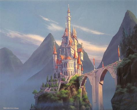 Disney Beauty And The Beast Enchanted Places Lithograph
