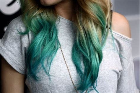Turquoise Tips On Dirty Blonde Hair Hair Styles Pinterest