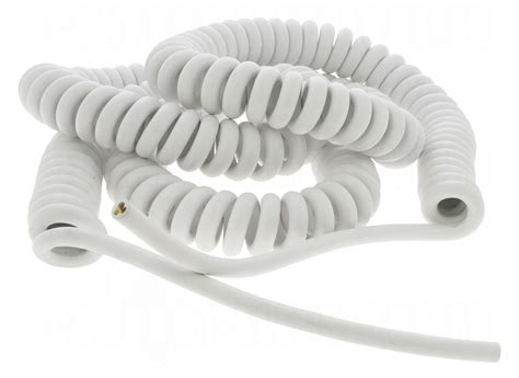 cable spiral 233 3g1 mm longueur 5 m 232 tres blanc 26 70