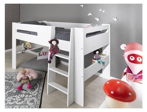 lit mi hauteur enfant blanc 90 190 chambre