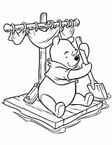 Coloring Pages Pooh Winnie Raft Sitting Characters Colouring Printable Cartoon Disney Printables Bear Hmcoloringpages Clip Preschool Sheets Stencils sketch template