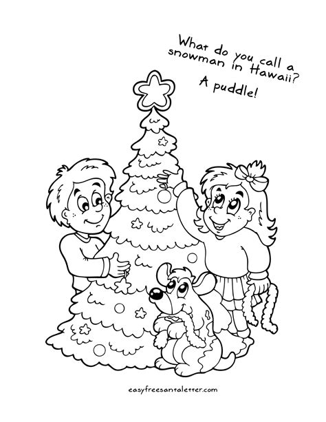 printable christmas coloring pages  jokes